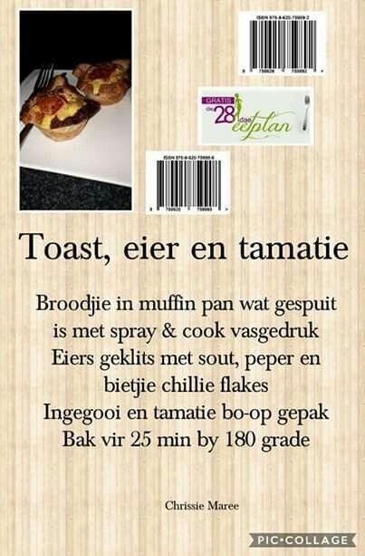 28 dae eetplan - Toast, eier en tamatie