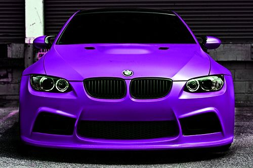 Purple BMW...  Davids dream car for Ayla