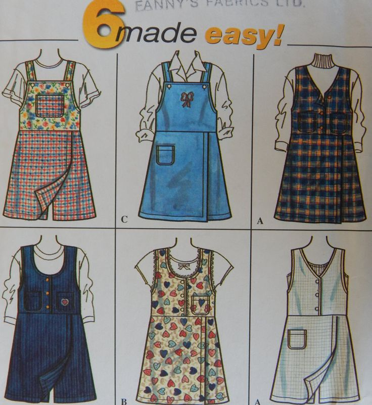 Girl's Skort Dress Sewing Pattern/Simplicity 7268 6 Made Easy/ Size 7-8-10/ Jumper, shorts with front panel, zipper back, all seasons/Uncut by RedWickerBasket on Etsy