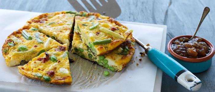Speedy Vegetarian Frittata recipe from Food in a Minute