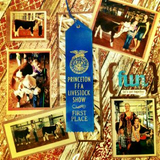 Livestock Show Scrapbook - would love to make something like this for Sam and Cheyann - for the Wilkins/Horn Family in general of their kids/grandkids.