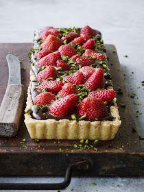 Louisa Lorang: Jordbær-chokoladetærte
