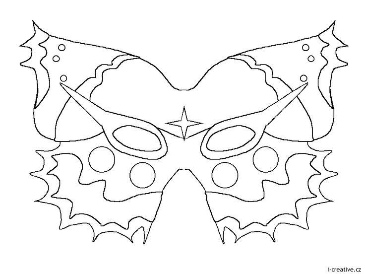 motýl maska