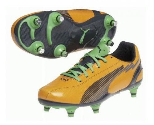 PUMA EvoSPEED 5 SG Junior Football Boots, Orange/Black, UK1