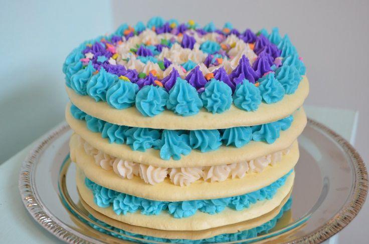 Almond Birthday Cake Dacquoise