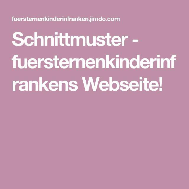 Schnittmuster - fuersternenkinderinfrankens Webseite!