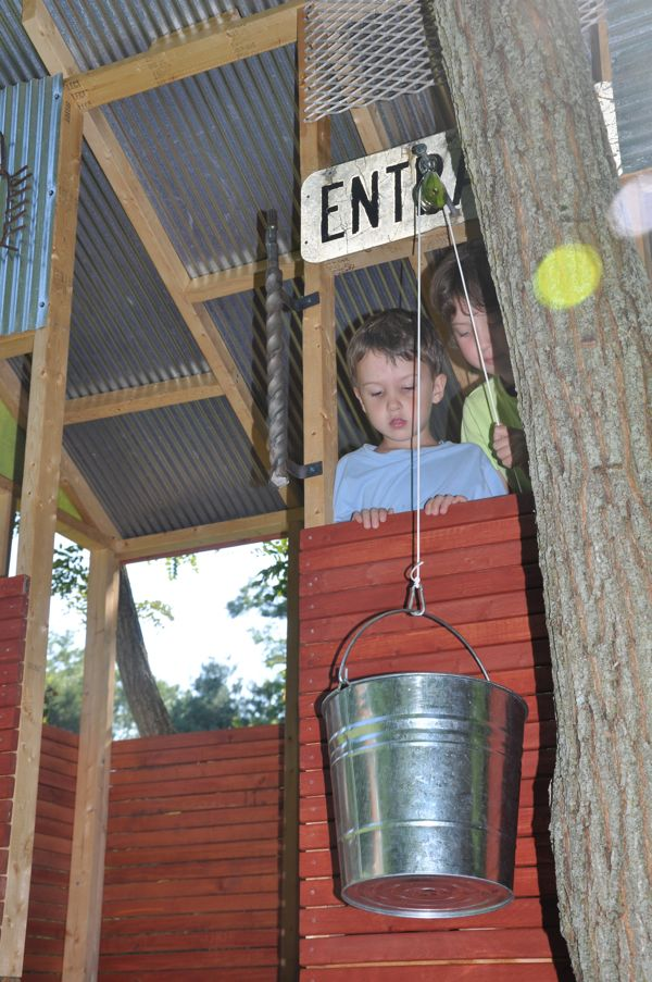 Playhouse Pulley System Playhouse Pinterest
