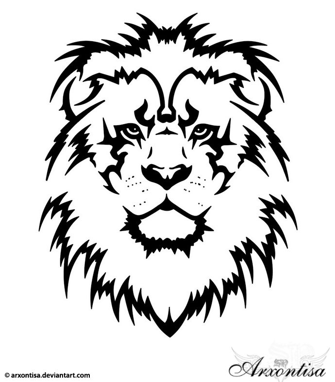 A Lion Head Showing Power Still Need To Think Of Some Things To Add To It Though Description From Pinterest Tribal Lion Tattoo Lion Head Tattoos Tribal Lion