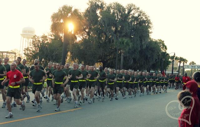 USMC Graduation Motovational Run, Parris Island