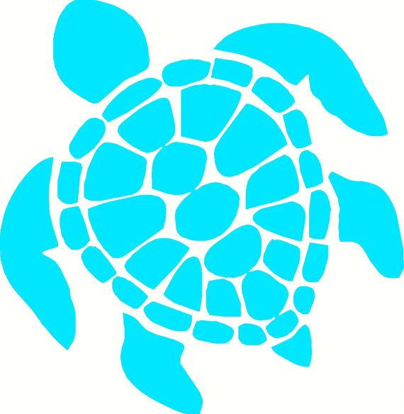 sea turtle Wall design, quote, art, home decor, sticker, decal, for house, office, car, truck, bumper, tailgate, device, phone, computer, laptop, window, door, wall, or any smooth surface.  5'' $1.95