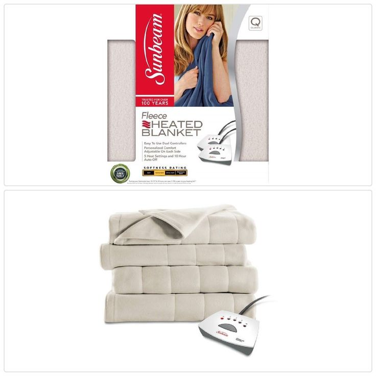 #Warm #Electric #Heated Quilted #Fleece #Blanket Khaki with Pro Controller Queen Size