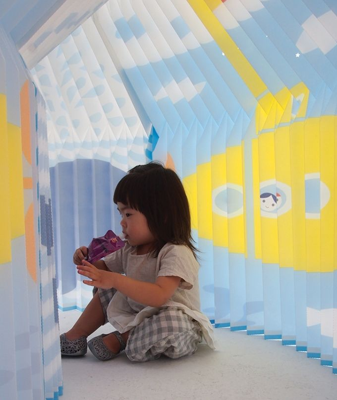 Accordion Play House-a foldable playhouse for small spaces air permeability and light penetration