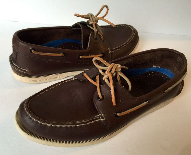 Sperry Top Sider Mens Sz 10.5 M Dark Brown Leather Boat Dock Slip On Loafers  | eBay