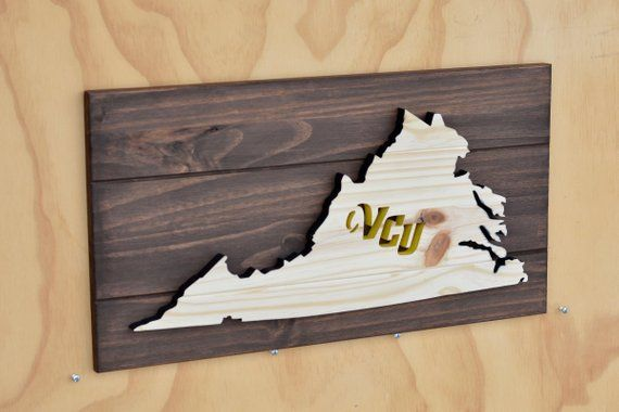 Virginia Commonwealth Rams State Wood Plaque Cutout In 2019 Skip