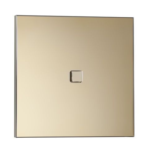 Light switch push button brass contemporary