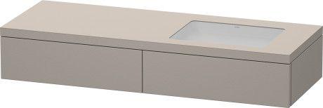 Delos Console met lades voor onderbouwwastafels f-bonded #DL6991 L/R   Duravit