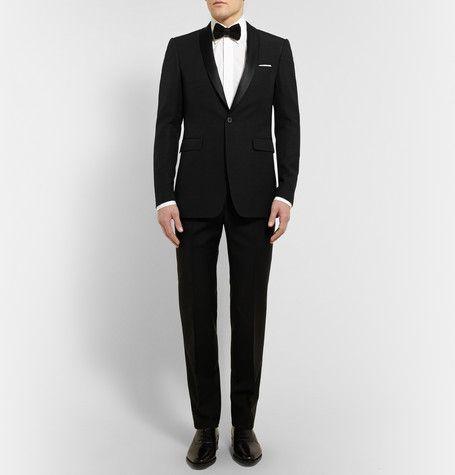 Burberry London Wool and Silk-Blend Tuxedo Jacket