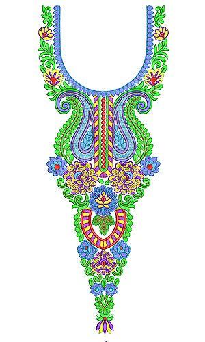 Teal Dresses | Tank | Kurti | Tunic Embroidery Design