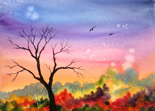 Easy watercolor paintings the rita 39 s art blog tuesday 39 s for How to use watercolors for beginners