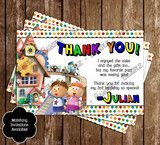 Tickety Toc Birthday Party Thank You Card
