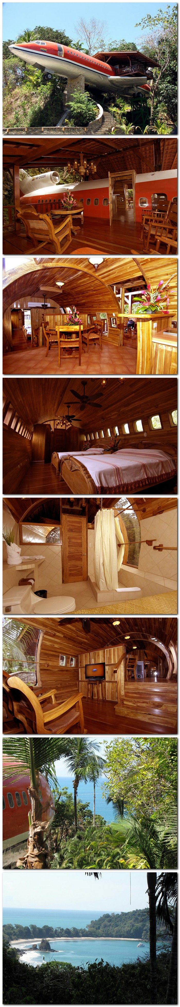 Decommissioned Boeing 727 Airplane Hotel Room in Costa Rica