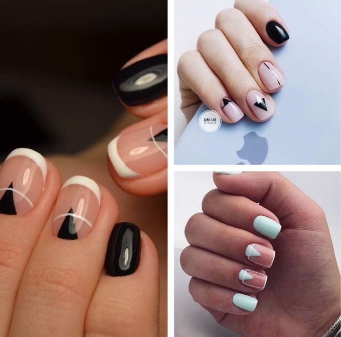 Unghii Cu Gel Scurte Cu Spatii Negative Nails Beauty