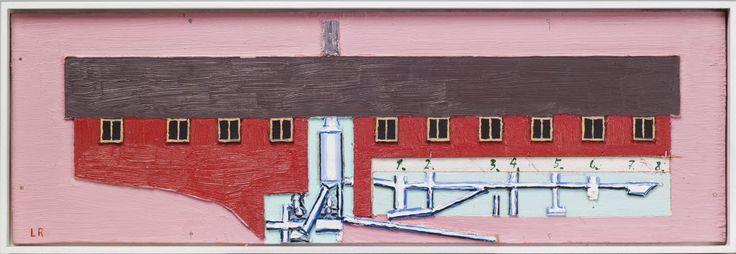 Leonard Rickhard  Analytisk motiv III, 2011-12, olje på papp og tre, 18,2 x 56,3 cm