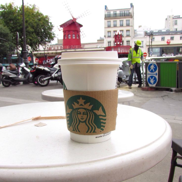 Starbucks across from the Moulin Rouge, Montmartre, Paris, France - July 2015