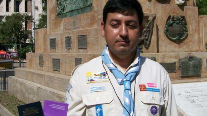ORGULLO. José Serrano, es el scout santiagueño que viajará a Ecuador a representar al NOA.