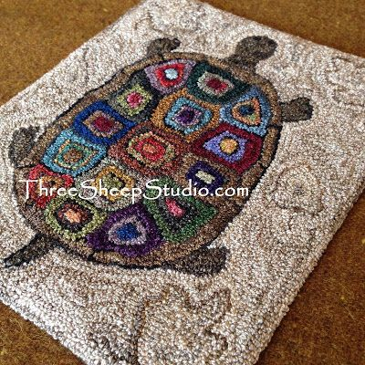 At The Water S Edge Punch Needle By Rose Clay Threesheepstudio