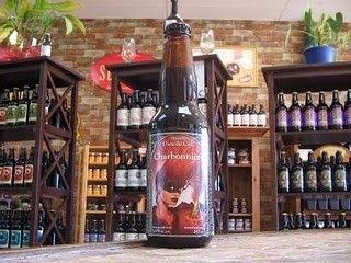 Cerveja Charbonniere, estilo Rauchbier, produzida por Brasserie Dieu du Ciel, Canadá. 5% ABV de álcool.