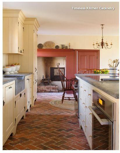 beautiful colonial primitive kitchen yellow cupboards farmhouse rh pinterest com
