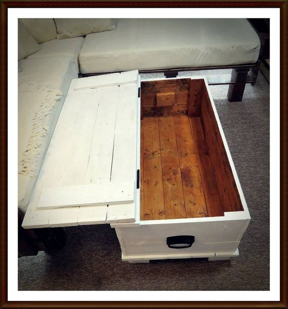 Large Painted Trunk/Chest Handmade using by PalletBrighton
