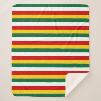 Suriname flag stripes lines pattern sherpa blanket - patterns pattern special unique design gift idea diy