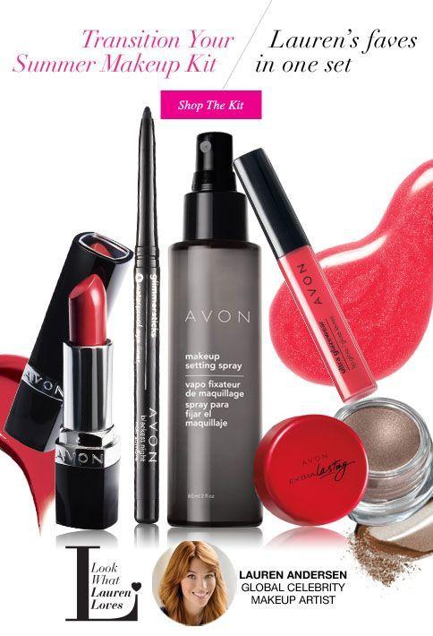 Avon - Transition your summer makeup kit. Here is Avon top summer picks a must have to a wonderful summer shop Avon makeup Lauren Anderson Global Celebrity Makeup Artist favorites online at www.youravon.com/my1724 #AVON #AVONMAKEUP #AVONLIPSTICK #LIPSTICK #LIPGLOSS #AVONSETTINGSPRAY #AVONEYESHADOWINK