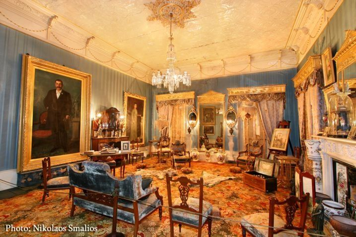 The Vouvalis Family Mansion showing the wealth of the most important benefator of Kalymnos, who was a Sponges Merchant mainly with offices in Greece, England, Egypt and the Bahamas.