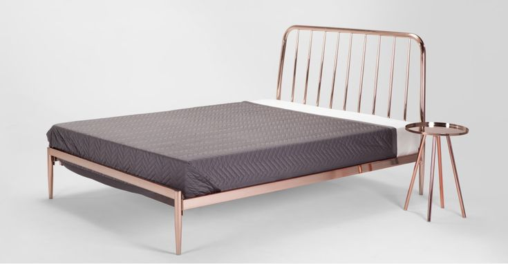 Alana Doppelbett (140 x 200 cm), Kupfer ► Neues Design für dein Schlafzimmer! Entdecke jetzt dein Traumbett bei MADE.