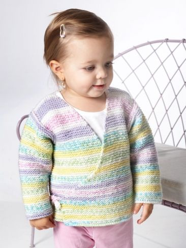 Free Knitting Pattern Baby Kimono Sweater : The 96 best images about Baby Girl - Cardigans Garter Stitch on Pinterest F...