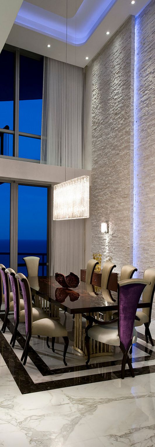 Luxury modern dining room - Jade Ocean Penthouse By Pfuner Design Luxury Dining Roomeclectic