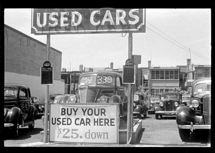 car dealerships old cars vintage photos black white history