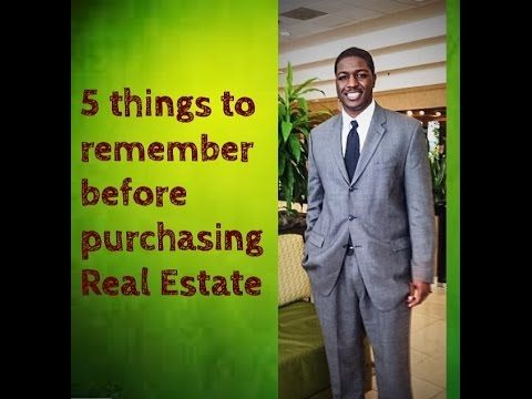 5 Things to Rembember Before Investing in Real Estate - The Finance Champ