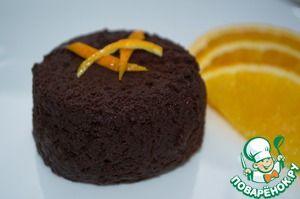 Шоколадный мини-тортик в микроволновке
