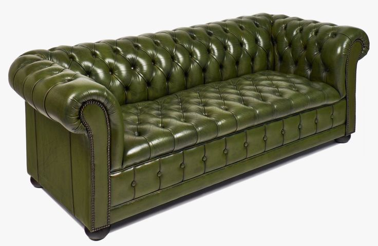 Vintage Green Leather Chesterfield Sofa Jean Marc Fray Von Green Leather Chesterfield Sofa Bild Chesterfield Sofa Sofa Design Ledersofa