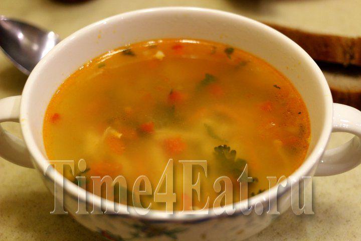 Рисовый суп с курицей и томатами
