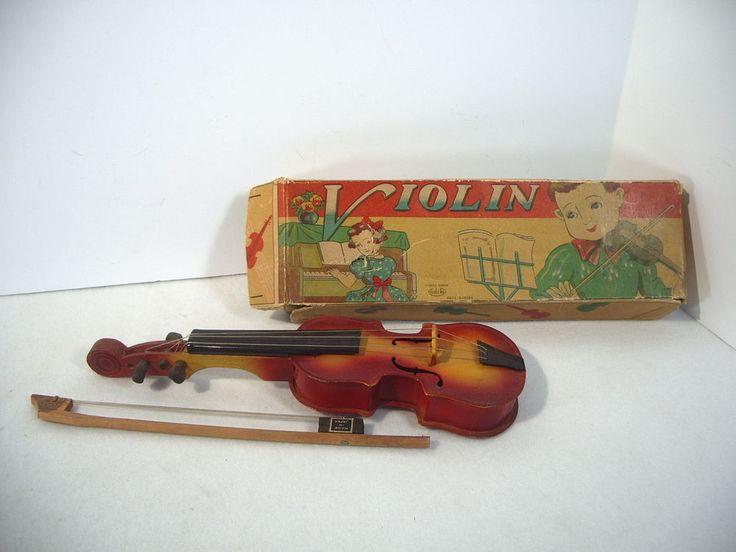 Toy Violin Ashi Toy Metal Wood Vintage Boy Girl Doll Strings Box Bow Japan #AshiToy   Winning bid: US $7.50 [ 1 bid ]