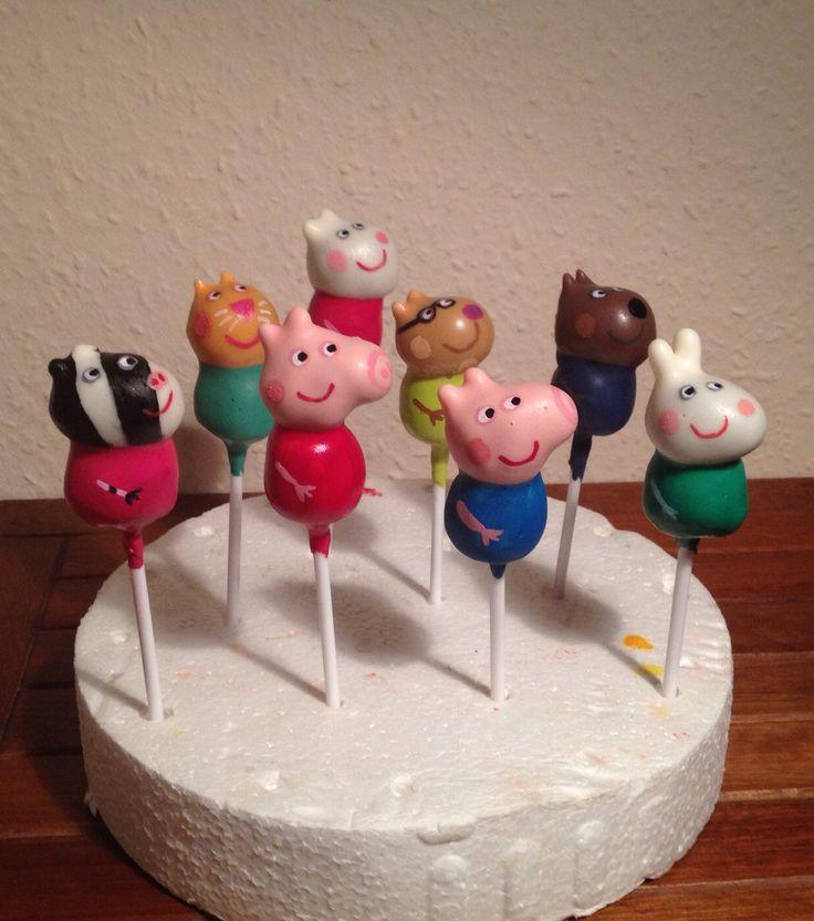 Peppa Pig Cake Pops Peppa Pig Pinterest Peppa Pig