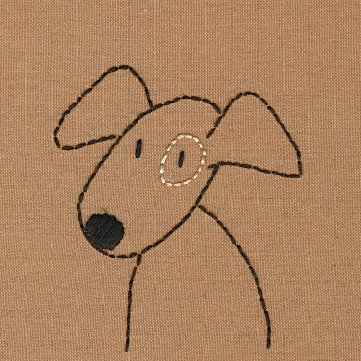 Dogs embroidery pattern