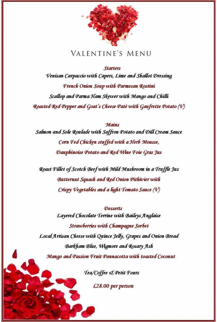 Best 25 valentine day dinner ideas ideas on pinterest for Romantic valentine dinner menu ideas