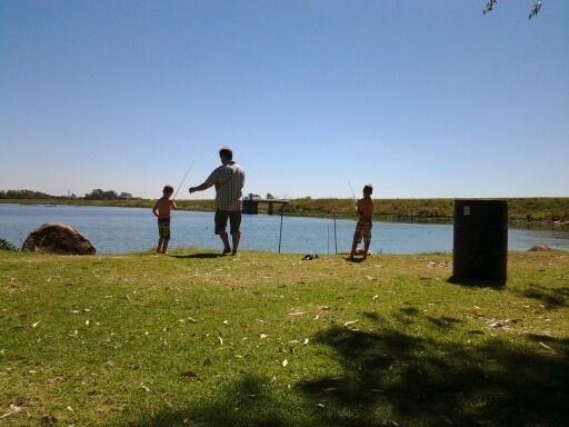 Teaching the boys to fish