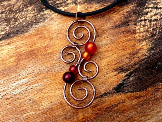 Meaningful Necklace  LUMINATE  New Zealand Copper by ArohaJewelz, €14.50